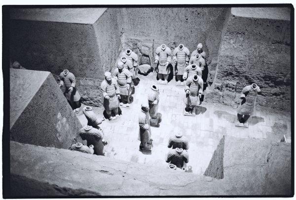 l'une des salles annexes de la nécropole de l'Empereur Qin