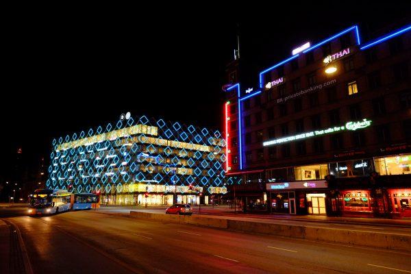 le début de la rue Vesterbrogade à Copenhague