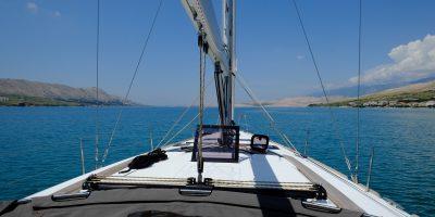 A bord d'un Dufour 460, île de Pas en Croatie