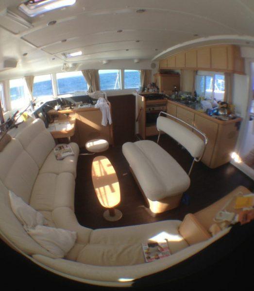 Navigation en mer à bord d'un Lagoon 440