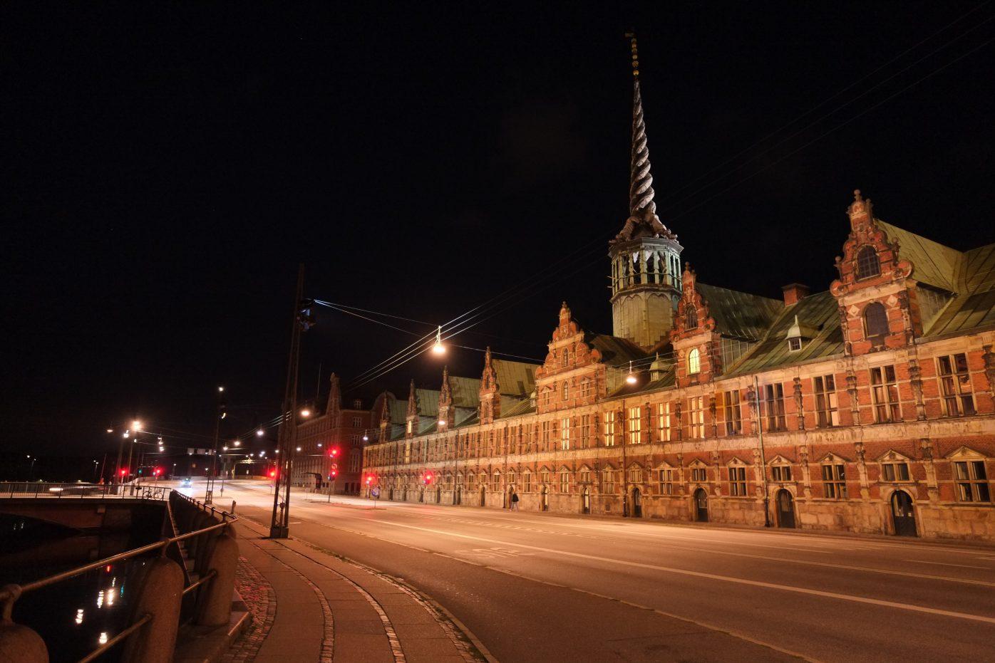 Visite de Copenhague la nuit en été