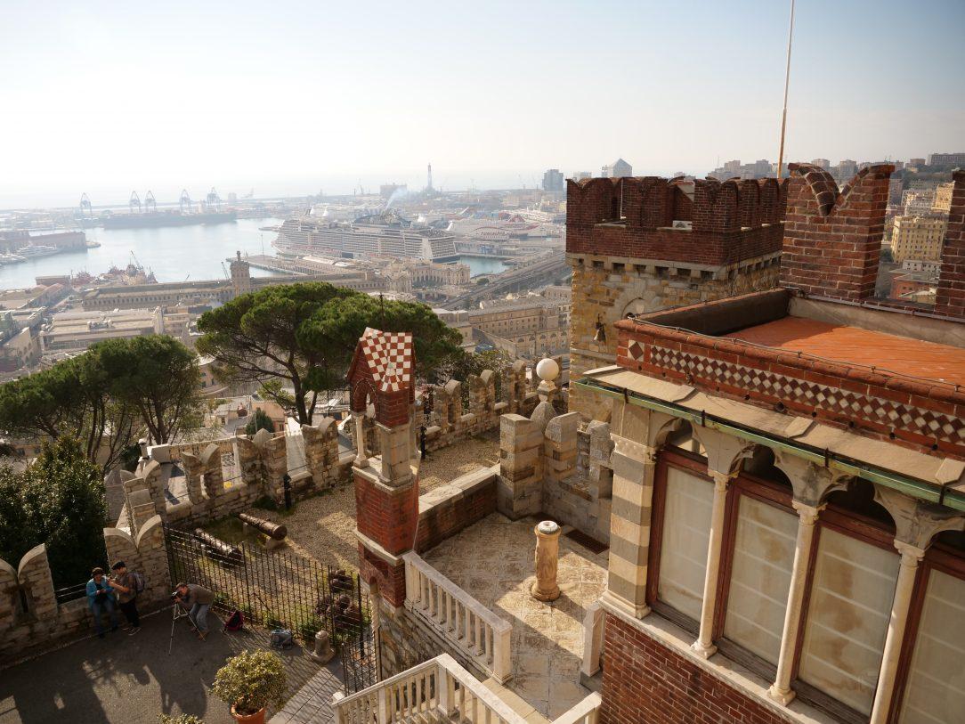 Panorama depuis le château d'Alberti à Gênes