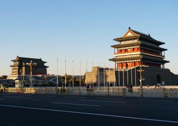 La place Tiananmen en plein centre de Pékin