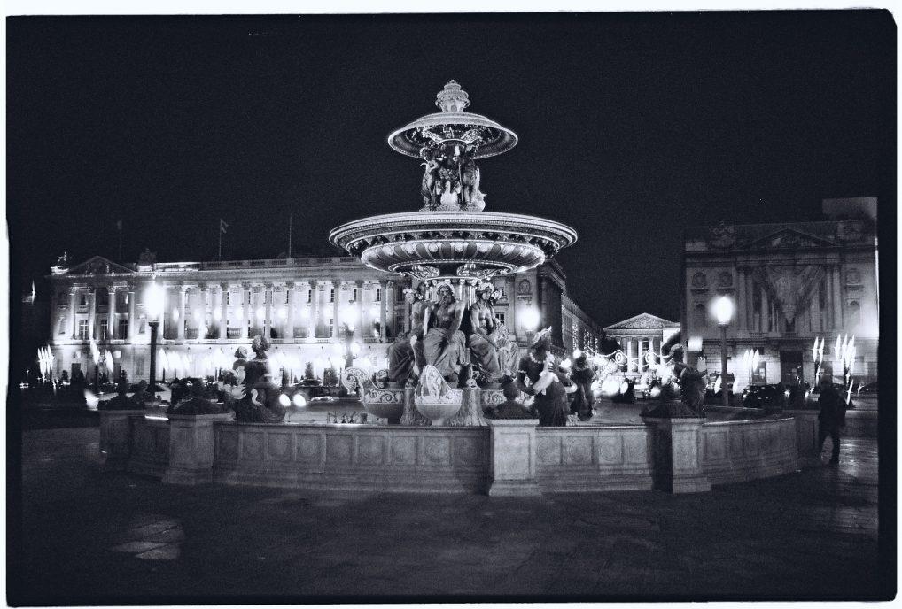La place de la Concorde la nuit