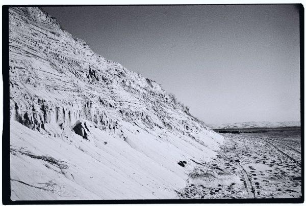Illustration de l'écroulement d'une dune au cap Ferret