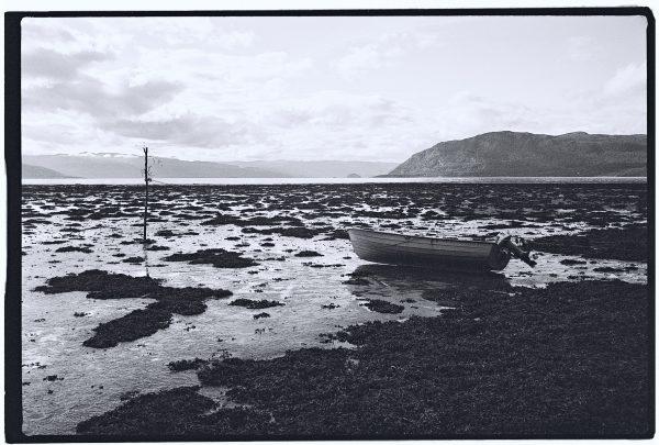 Les photos de la Norvège en noir et blanc
