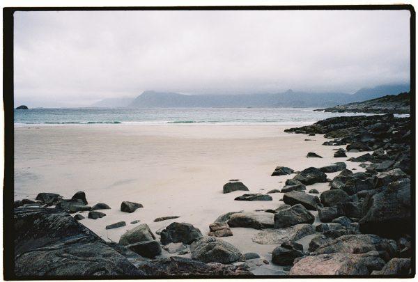 Une plage perdue dans l'ouest des Lofoten