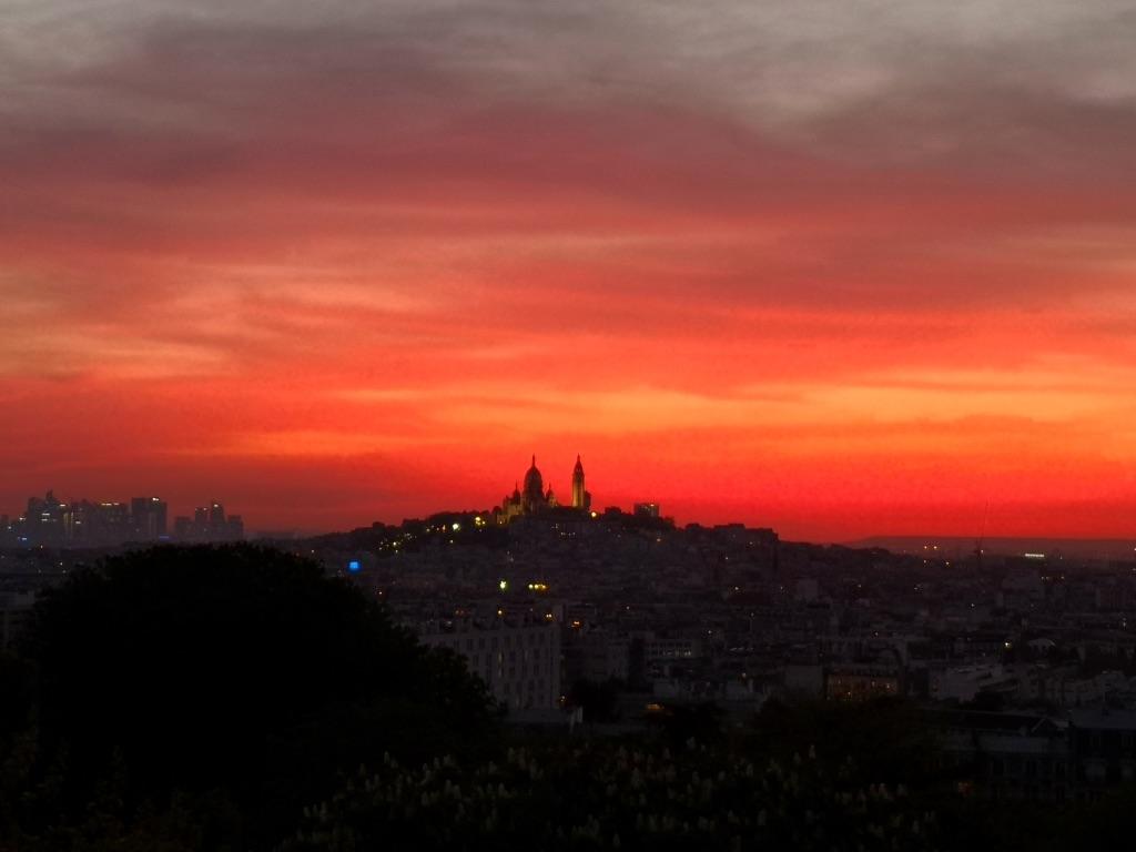 Coucher de soleil sur Montmartre