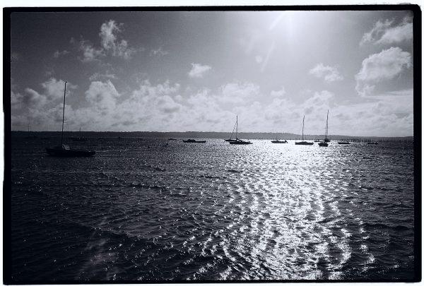 En regardant le bassin on peut s'imaginer l'état de la mer