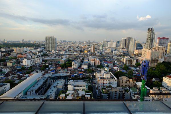Vue depuis l'un des rooftops de la capitale