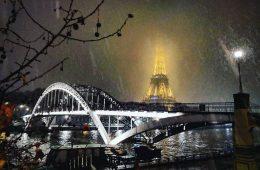 Paris un jour où il neige