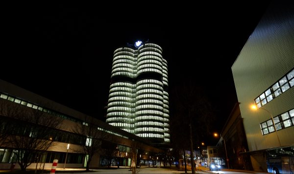 La tour BMW en forme de moteur datant de 1972