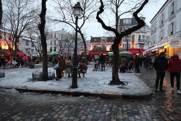 Un jour de neige à Paris