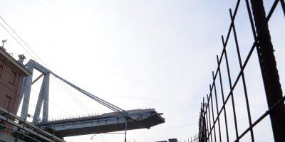 Les restes du pont Morandi