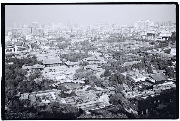 Vue depuis les contreforts de la Montagne Li, à Xian
