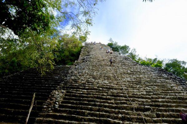 Cobà une pyramide Maya sur la péninsule du Yucatan