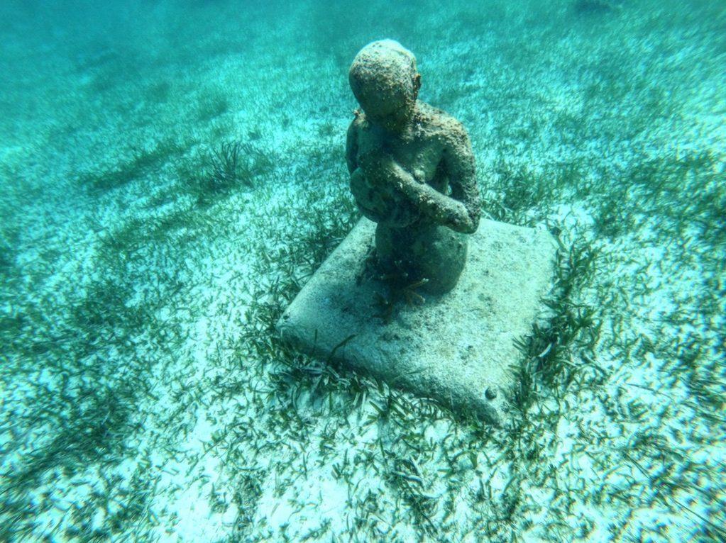 Une splendide statue au MUSA de  Cancun