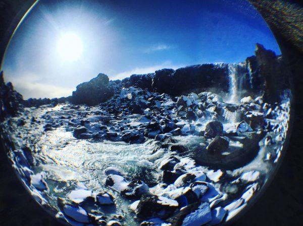 La cascade d'Oxararfoss