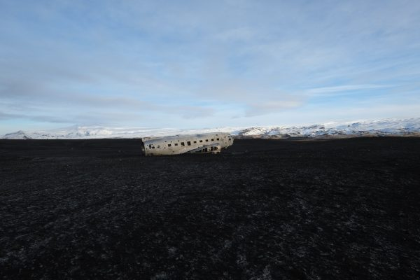La carlingue d'un avion abandonné