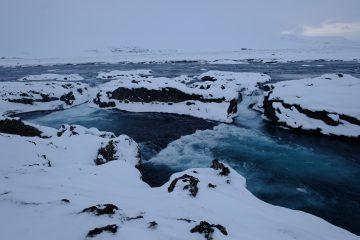 Dans le nord de l'Islande, au pied de Godafoss