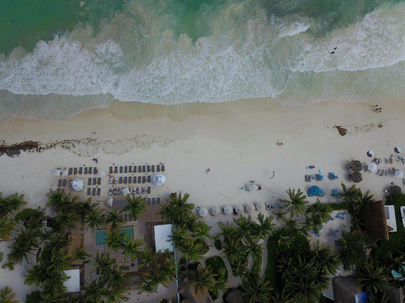 La mer des Caraïbes et la plage de Tulum