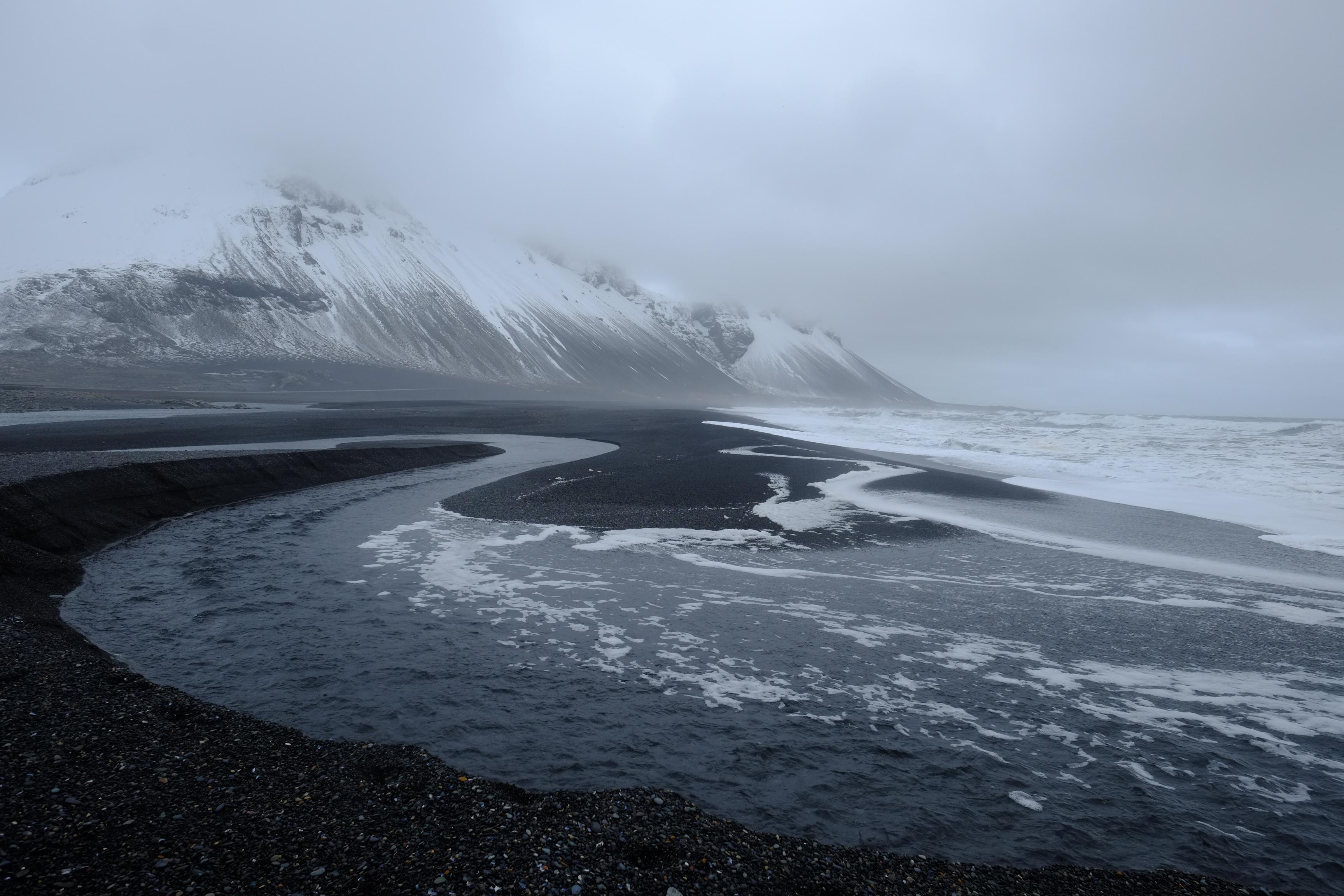 Les plages de sable noir du sud est de l'Islande