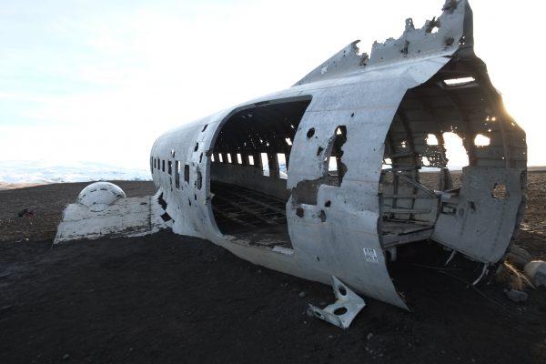 Les restes d'un avion de l'armée américaine en Islande