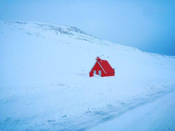 Les paysages de l'Islande en hiver