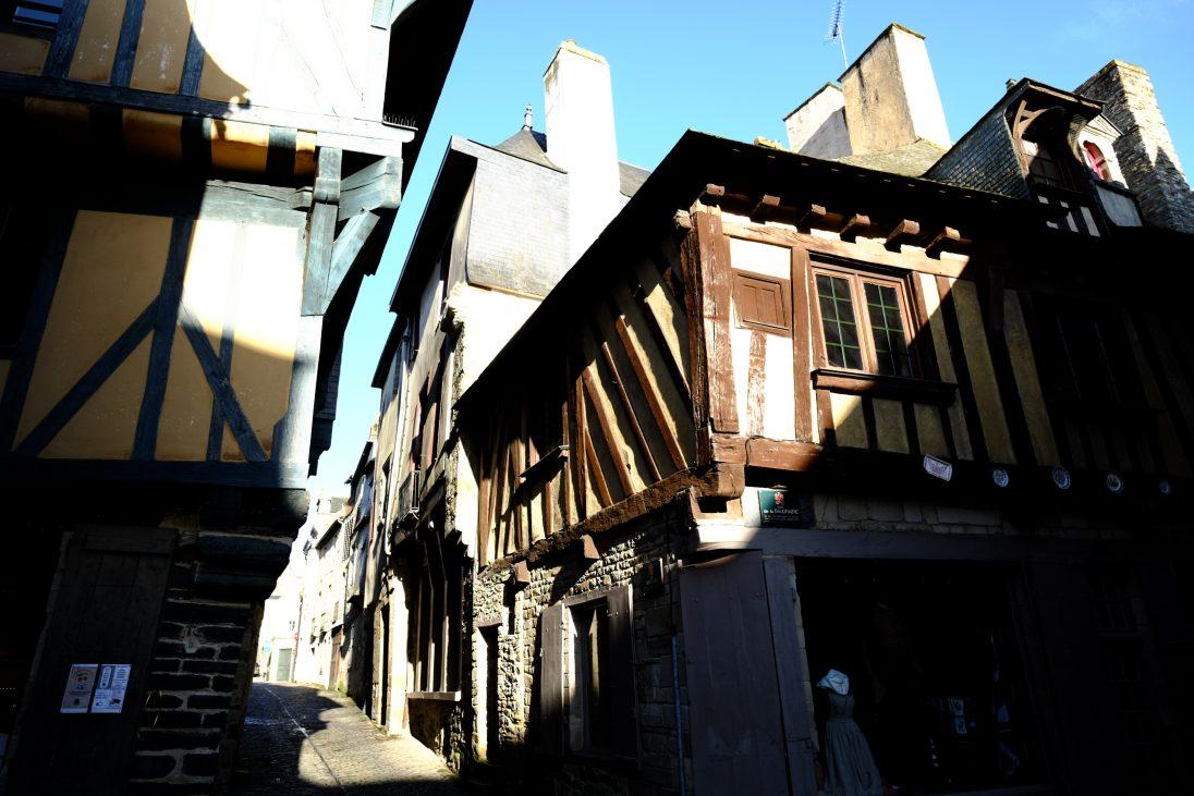 Le splendide centre ville médiéval de Vitré