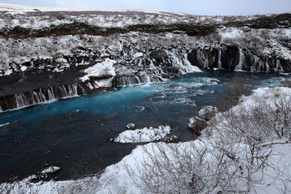 Une des cascades les plus atypiques d'Islande