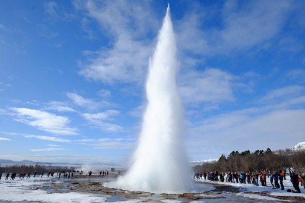 un geyser en Islande