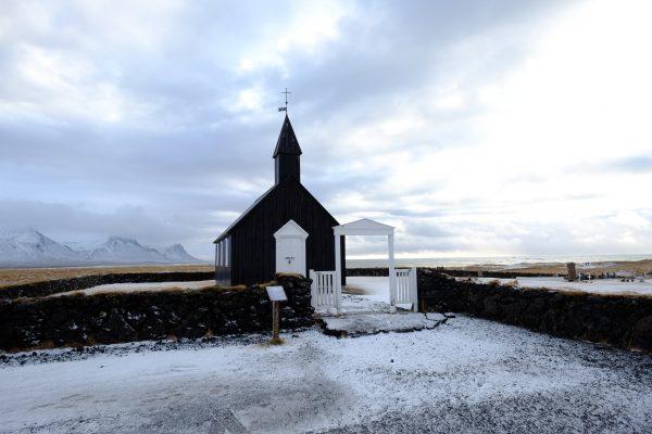 Une petite église islandaise