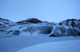 Un glacier qui souffre dans le sud de l'Islande