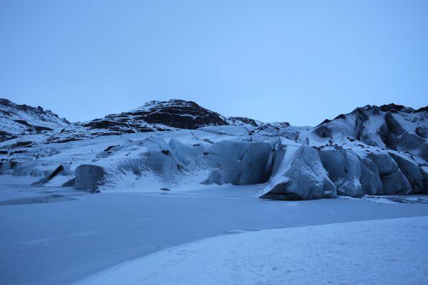 Solheimajökull un glacier au crépuscule