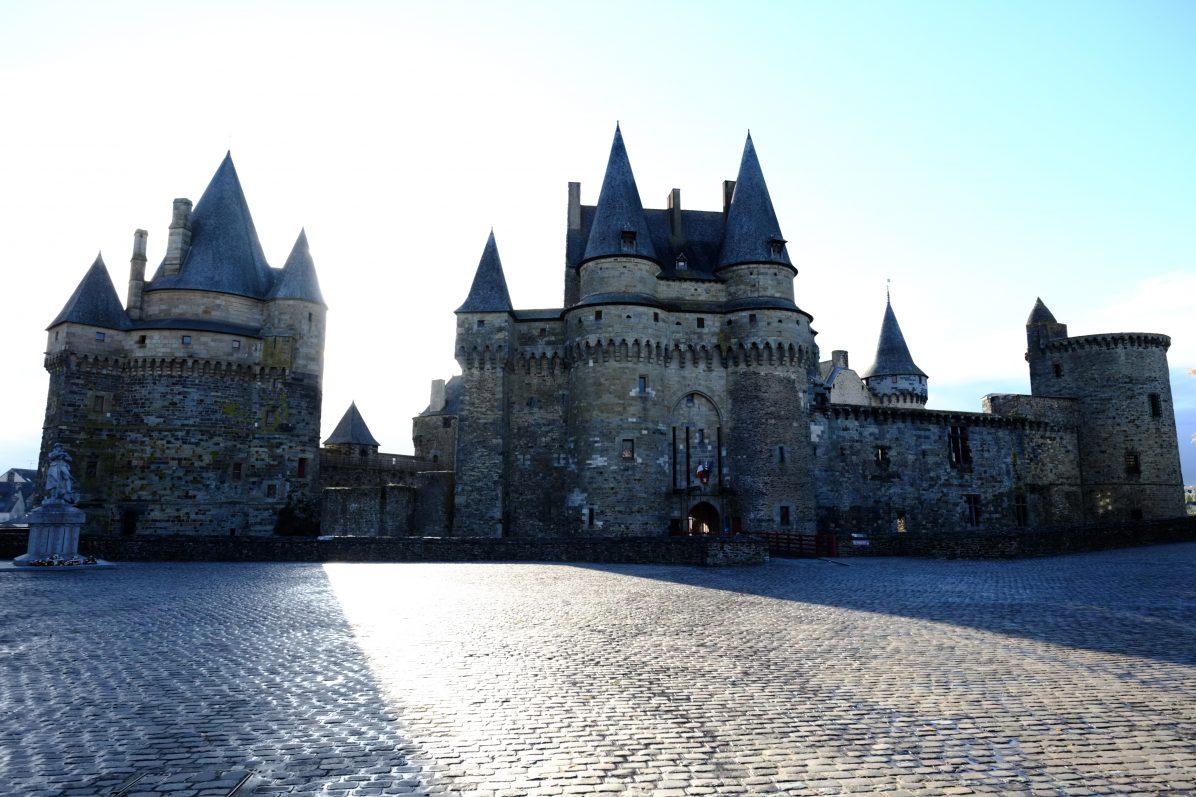 Le château de Vitré en toute fin de journée