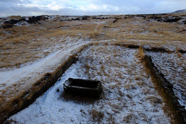 Les restes du villages de Budir  après la tempête de 1799