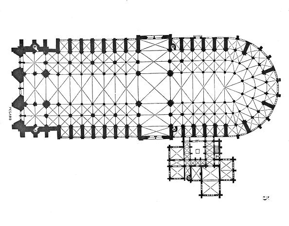 Notre Dame de Paris, les plans du bâtiment