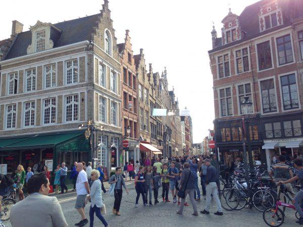 Dans le centre de Bruges en Belgique