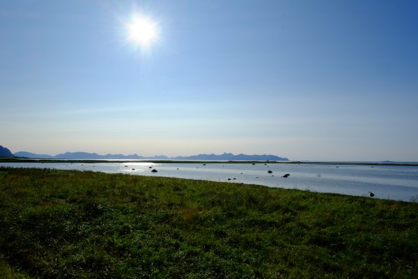 Un grand soleil en Norvège