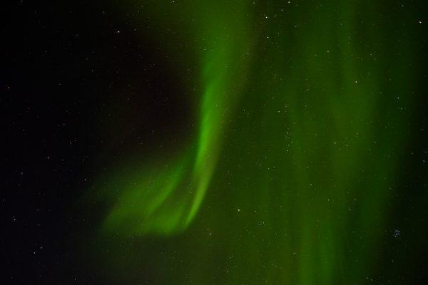 Une aurore boréale pendant la nuit norvégienne