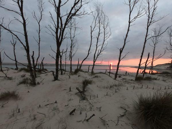 Une splendide et tragique coucher de soleil à Berck
