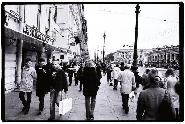 Dans les rues de Saint-Petersbourg
