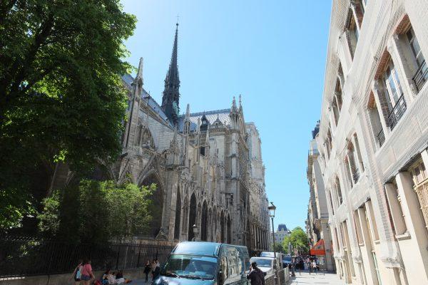 Notre Dame de Paris sur l'île de la Cité