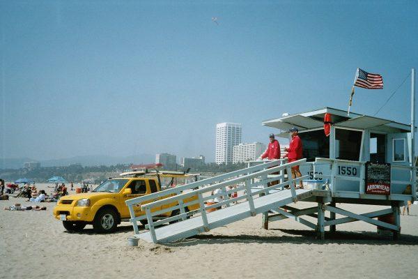 Sur la plage à Los Angeles