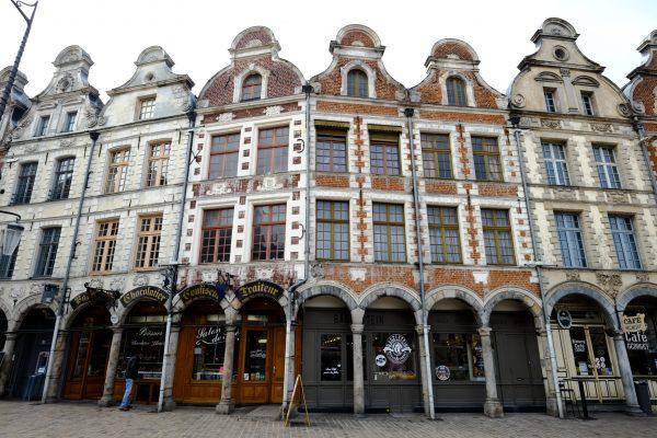 Les jolies arcades du centre ville d'Arras