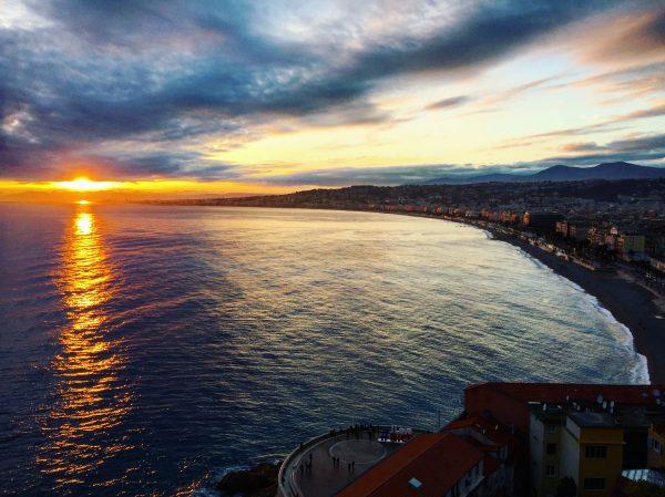Le parc du château, l'un des meilleurs endroits pour observer le soleil se coucher