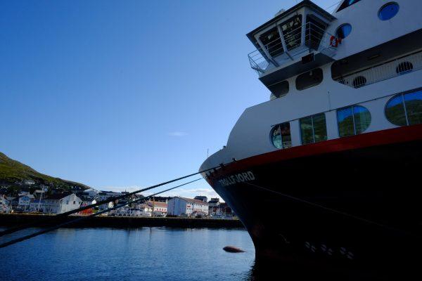 A l'abri dans le port d'Honningsvag