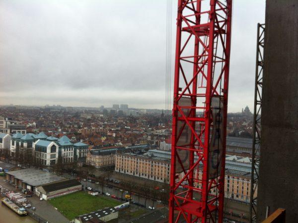 Bruxelles depuis un chantier