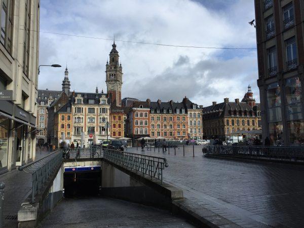 La Grand Place de Lille sous les nuages