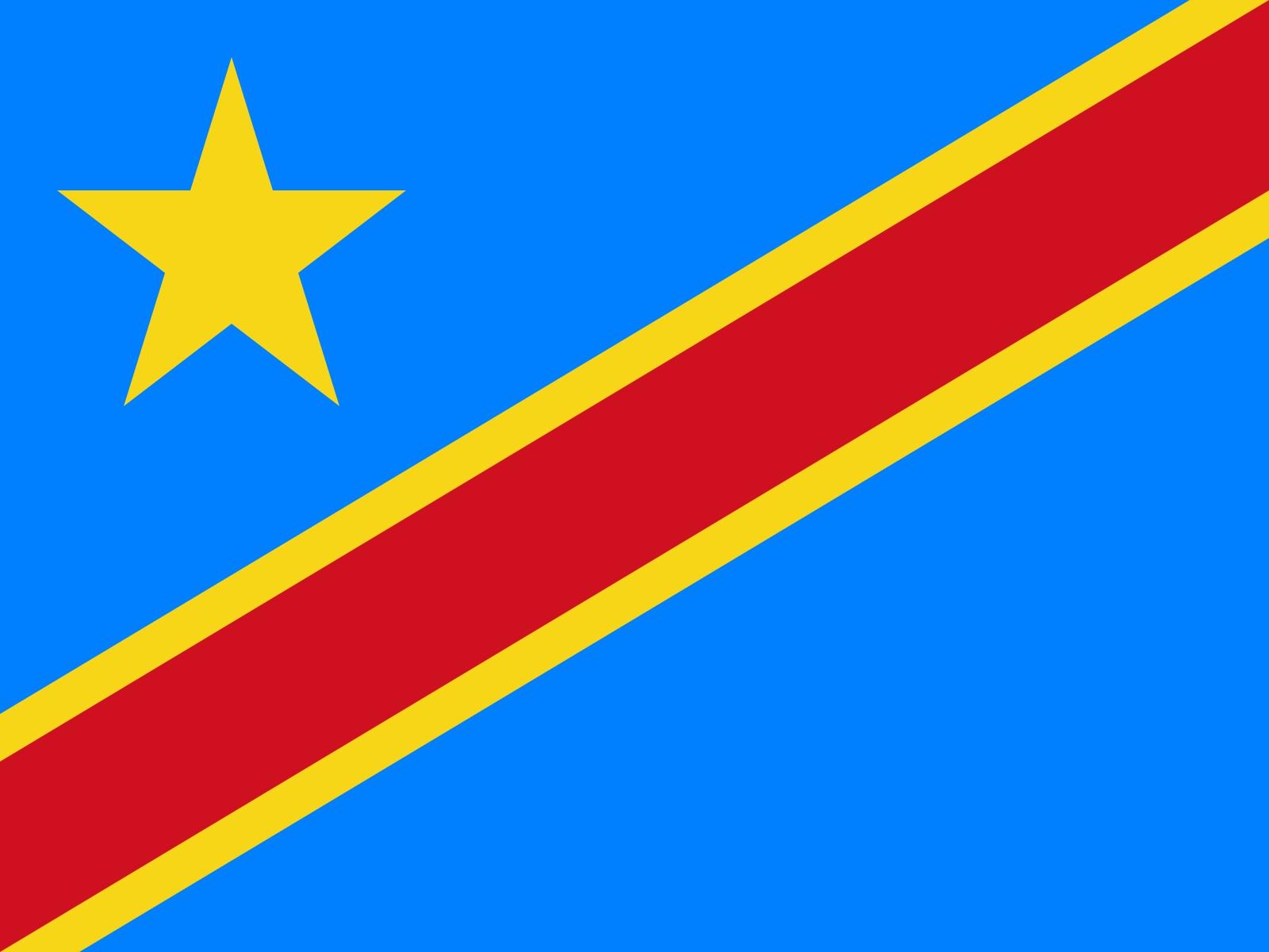 Le drapeau de la république démocratique du Congo